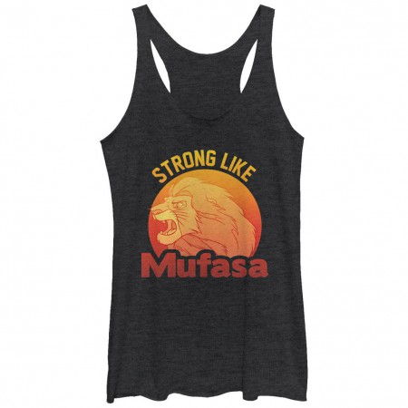 Disney Lion King Strong Mufasa Black Juniors Racerback Tank Top