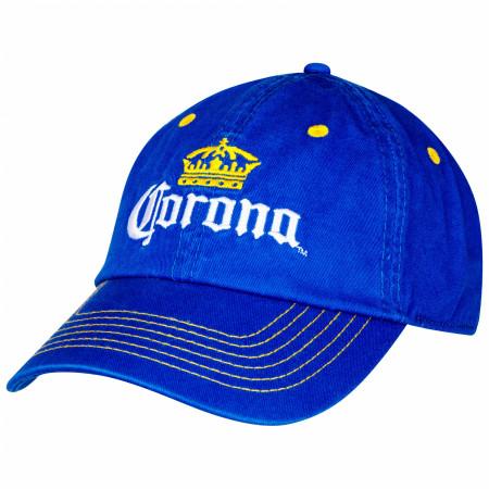 Corona Extra Yellow Stitch Adjustable Strapback Hat