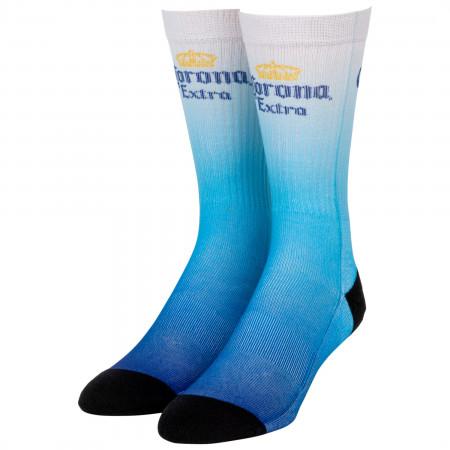 Corona Extra Blue Ombre Crew Socks