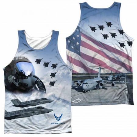 Air Force Pilot WHITE Sublimation Tank Top