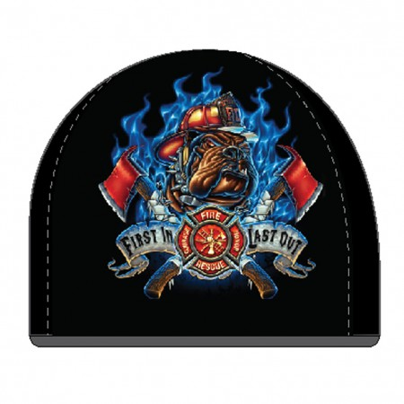 Firefighter First In Last Out Black Hat Beanie