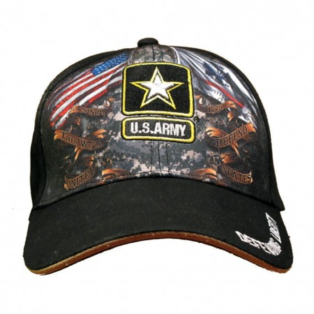 US Army Black Baseball Hat