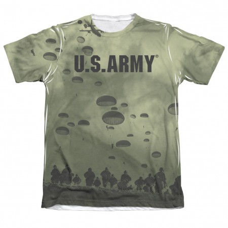 US Army Air To Land Green Sublimation T-Shirt