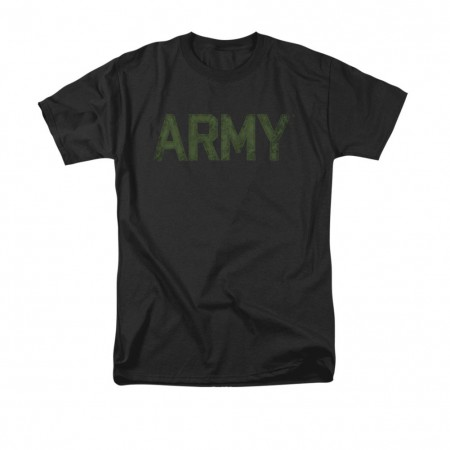 US Army Type Black T-Shirt