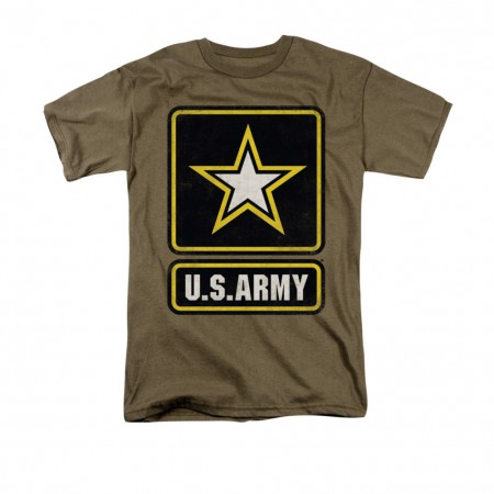 US Army Logo Brown T-Shirt