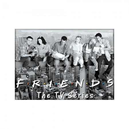 Friends Black And White Cast Magnet