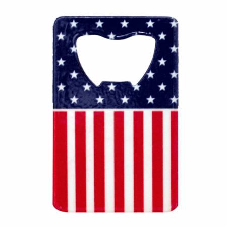 American Flag Card Bottle Opener