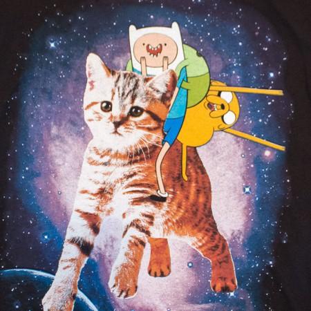 Adventure Time Riding Cat Men's Tee Shirt