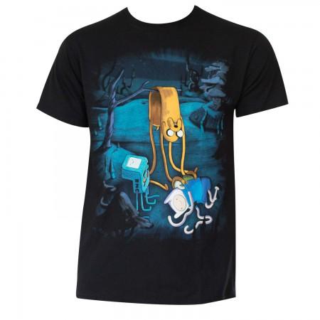 Adventure Time Men's Black Melting T-Shirt