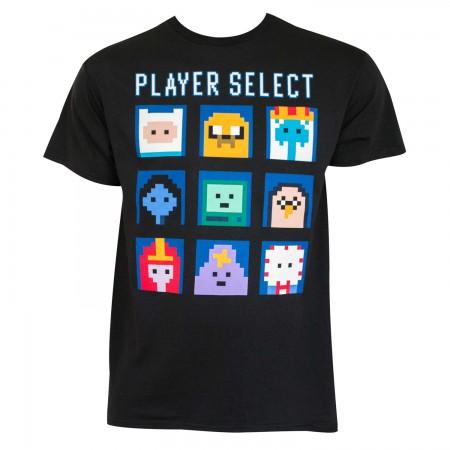 Adventure Time Men's Black Player Select T-Shirt