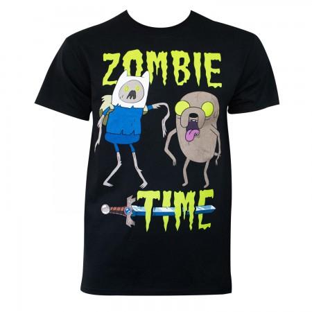 Adventure Time Men's Black Zombie Time T-Shirt