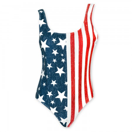 Stars And Stripes Women's American Flag One Piece Swimsuit