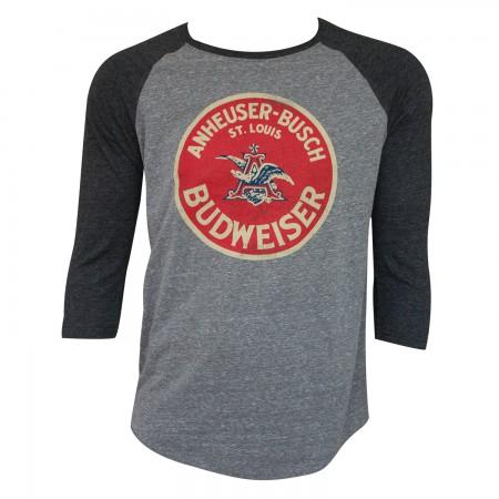 Budweiser Vintage Circle Logo Raglan Shirt
