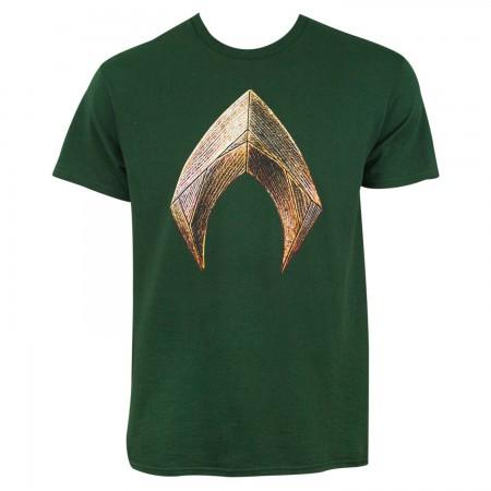 Justice League Men's Green Aquaman T-Shirt