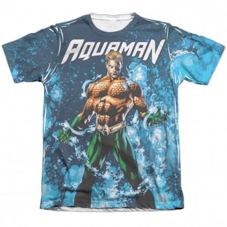Aquaman Bubbles Sublimation T-Shirt