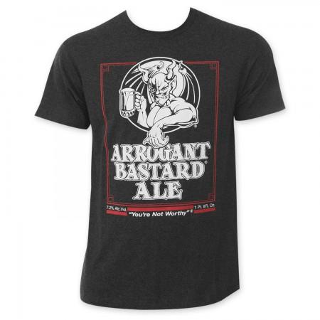 Arrogant Bastard Men's Charcoal Beer Logo T-Shirt