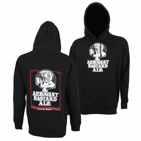 Arrogant Bastard Double Sided Black Hoodie