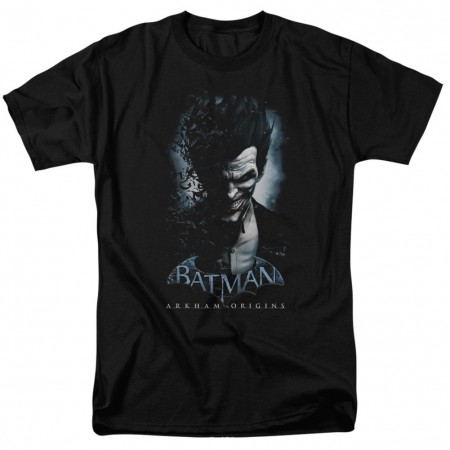Batman Arkham Origins Joker Poster Men's Black T-Shirt