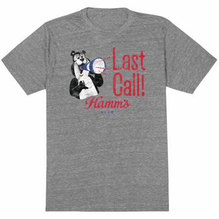 Hamm's Bear Heather Grey Last Call T-Shirt