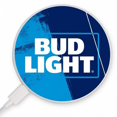 Bud Light Text Logo Coaster-style Rapid Wireless Charger