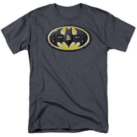 Batman Mech Logo Men's Grey T-Shirt