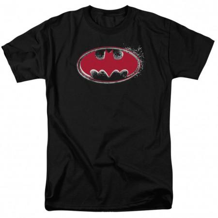 Batman Hardcore Noir Logo Men's Black T-Shirt