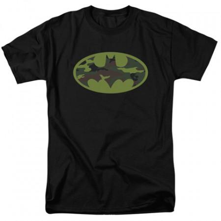 Batman Camo Logo Men's Tshirt