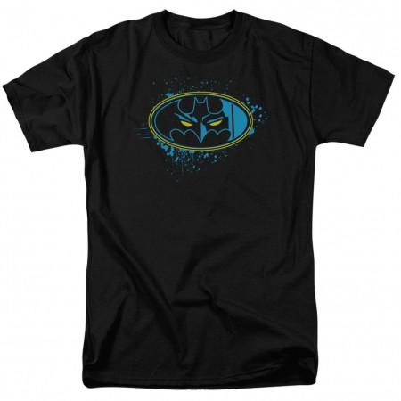 Batman Eyes In The Dark Logo Black Tshirt