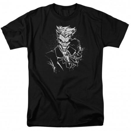 Joker Splatter Smile Men's Black T-Shirt