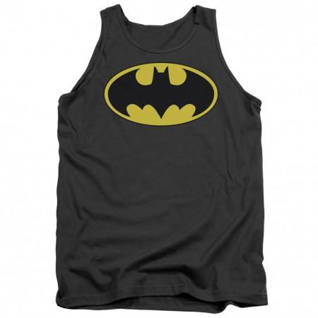 Batman Classic Logo Grey Tank Top