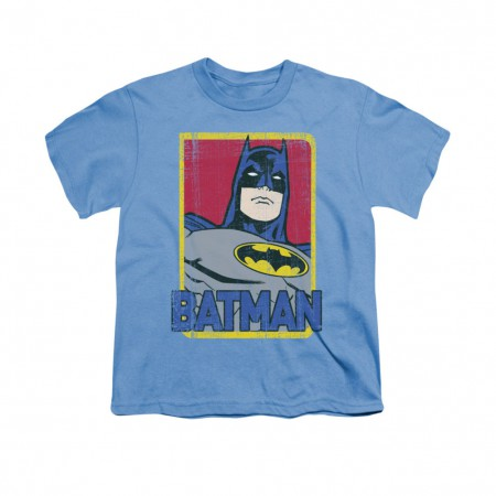 Batman Primary Blue Youth Unisex T-Shirt