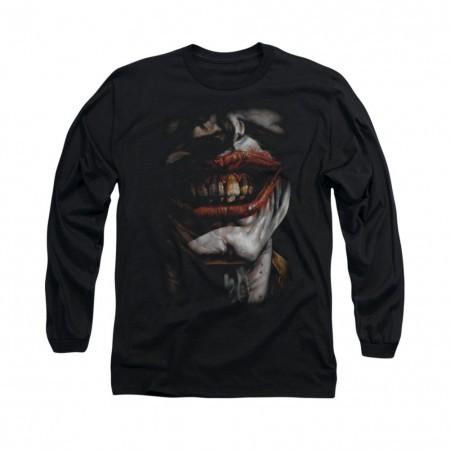 Batman Joker Smile Of Evil Black Long Sleeve T-Shirt