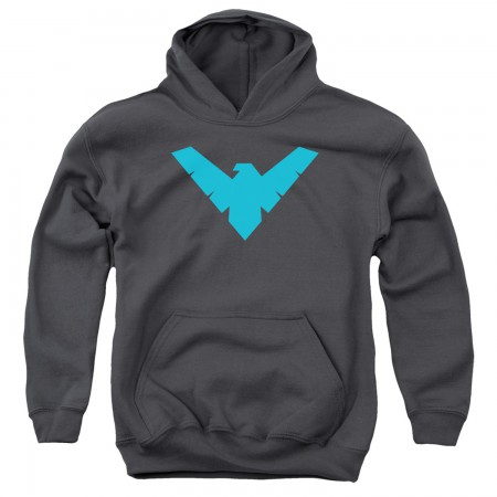 Nightwing Logo Grey Youth Hoodie