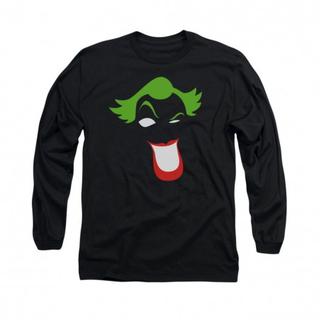 Batman Joker Simplified Black Long Sleeve T-Shirt