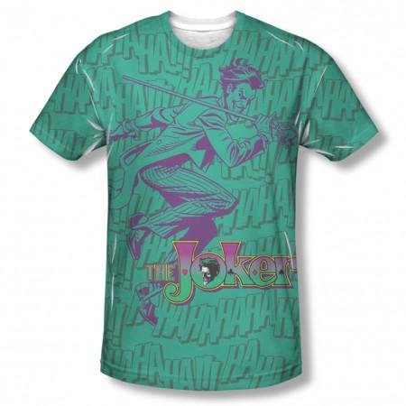 Batman Joker Merriment Sublimation Green T-Shirt