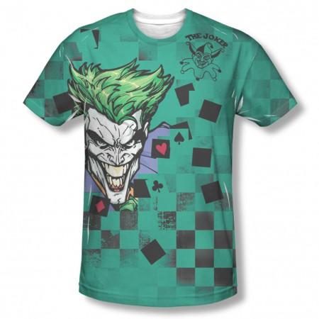 Batman Joker Boxed Clown Sublimation Green T-Shirt