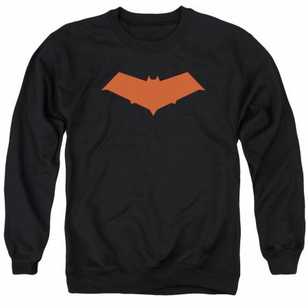 Batman Red Hood Logo Black Crewneck Sweatshirt