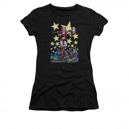 Batman Harley Quinn Black Hammer Time Juniors T-Shirt