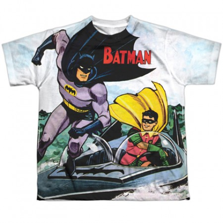 Batman and Robin In Action Youth Tshirt