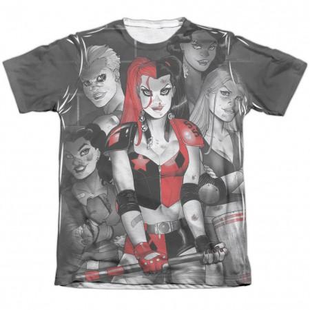 Harley Quinn Bad Girls Sublimation T-Shirt