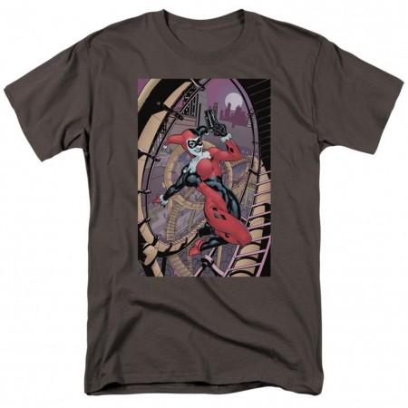 Harley Quinn Pistol Pose Men's Grey T-Shirt