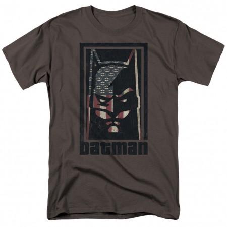 Batman American Hero Logo Flag Men's T-Shirt