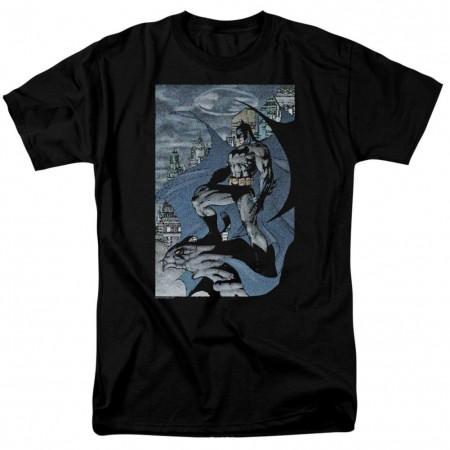 Batman Lo-Fi Bat Signal Comic Men's Black T-Shirt