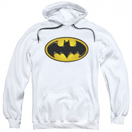 Batman Airbrushed Logo White Hoodie
