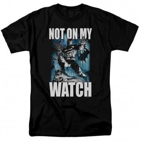 Batman Not On My Watch Comic Men's Black T-Shirt