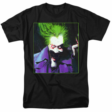 The Joker Painted Portrait Men's Black T-Shirt