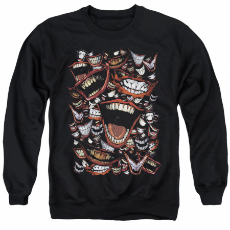 The Joker Psycho Smiles Black Crewneck Sweatshirt
