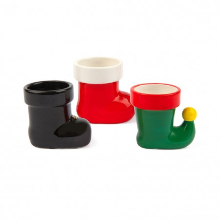 Holiday Elf Boot Shot Glass Set