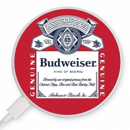 Budweiser King of Beers Label Coaster-style Rapid Wireless Charger
