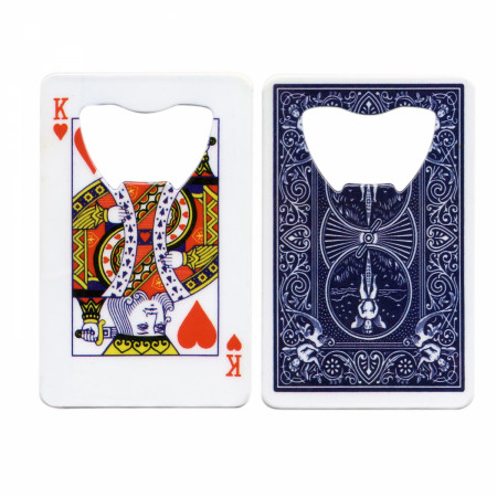 King Of Hearts Beer Bottle Credit Card Opener